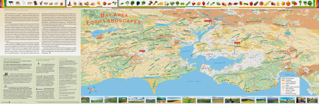 Bay Nature Food Landscapes Map