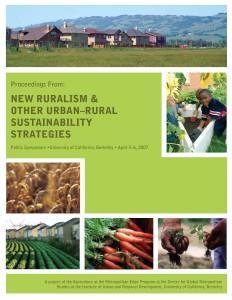 Proceedings from New Ruralism at UC Berkeley Cover